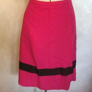 Dresses & Skirts - I.N.C. Pink & Black Wool Blend Bow Skirt